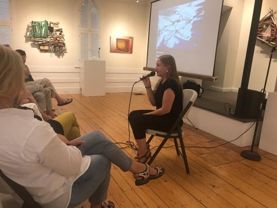 Eeva Siivonen taking questions